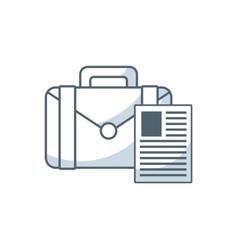 Portfolio with business icon vector