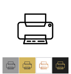 Printer icon office printing document equipment vector