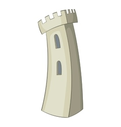 Retro castle icon cartoon style vector image