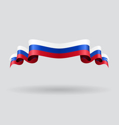 Russian wavy flag vector image