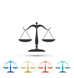 scales of justice icon on white background vector image