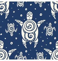 Sea turtles seamless pattern vector