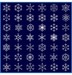 set decorative winter snowflakes vector image