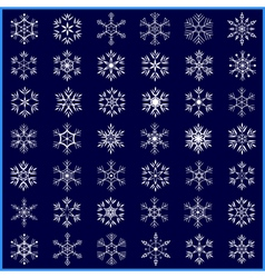 Set of decorative winter snowflakes vector image