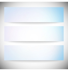 Set of horizontal banners Abstract multicolored vector image