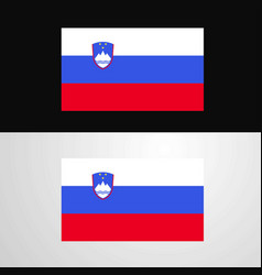 slovenia flag banner design vector image