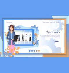 social media person profile recruit search online vector image
