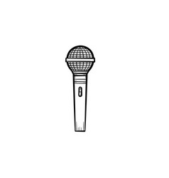 speaking microphone hand drawn outline doodle icon vector image