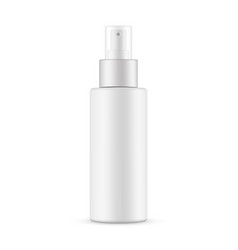 Spray bottle with transparent cap mockup vector
