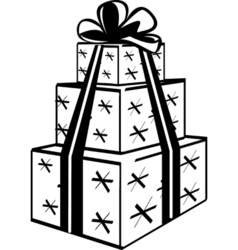 Stacked gift presents vector image vector image