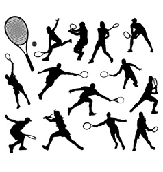 tennis 7 vector image