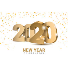 text design 2020 vector image