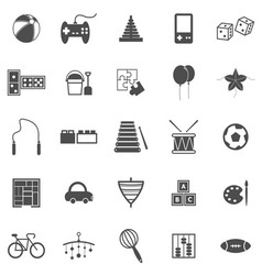 Toy icons on white background vector