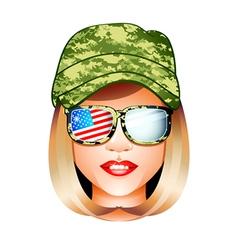 Us army girl vector