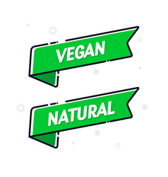 Vegan food flag set modern natural banner concept vector