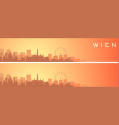 vienna beautiful skyline scenery banner vector image