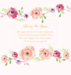 wedding card flower frame vector image
