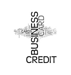 which business credit card is best for you text vector image