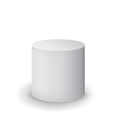 White cylinder vector
