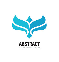 wing concept logo design abstract bird creative vector image