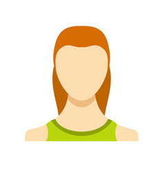 woman user icon flat vector image