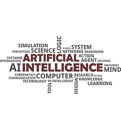 word cloud artificial intelligence vector image