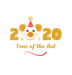 Year rat 2020 chinese zodiac chinese vector