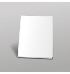Empty white books vector image vector image
