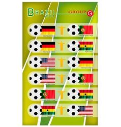 Football Tournament of Brazil 2014 Group G vector image