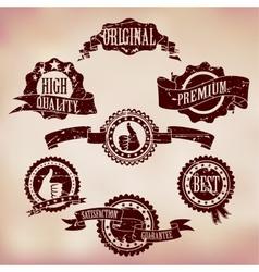 Grunge Scratched Badges vector image