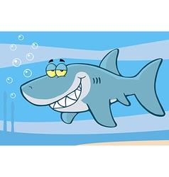 Happy Shark Cartoon Character vector image vector image