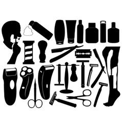 shaving tools set vector image