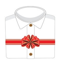 Blanching shirt in gift vector image