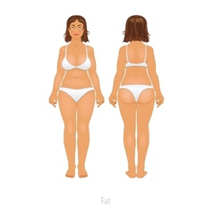 Fat and thin woman big white girl vector
