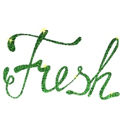 Fresh lettering tinsels vector image