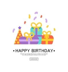 Happy Birthday Greeting Card vector image vector image