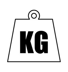 Kg weight isolated icon vector