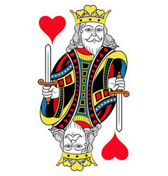 king of hearts isolated french version vector image vector image