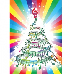 new year music notes vector image