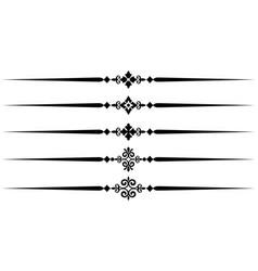 ornamental rules design vector image