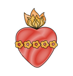 sacred heart cartoon vector image