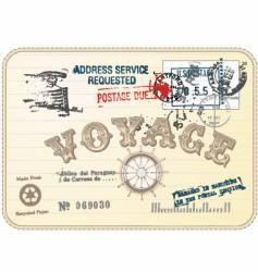 vintage postcard illustration vector image vector image