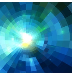 Abstract blue shining tunnel background vector image vector image
