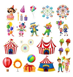 Happiness at the carnival vector image vector image