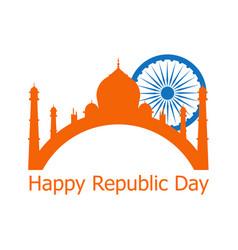 Happy republic day of india 26 th january ashoka vector