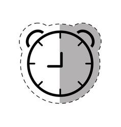 school clock thin line vector image vector image