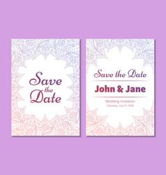 temptale of wedding invitation flyer vector image