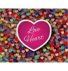 cute love card design vector image