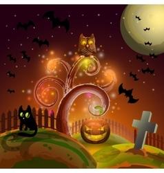 Halloween party tree vector image