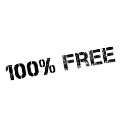 100 percent free rubber stamp vector image